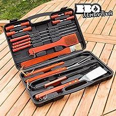 BBQ Master Tools Werkzeugkoffer für Grill, schwarz, (18Teile)