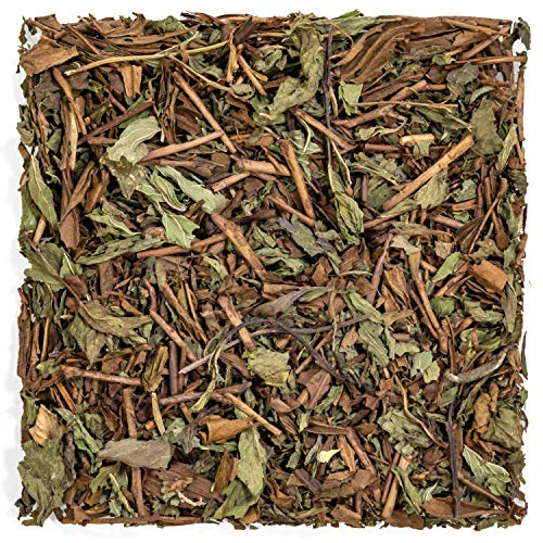 Tealyra - Thin Mint - Hojicha Japanese Roasted Green Tea with Spearmint Leaves - Natural Ingredients - Loose Leaf Tea - Very Low Caffeine - 150gram