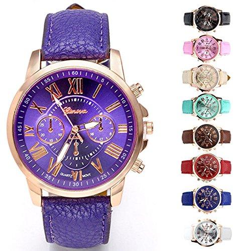 JSDDE-orologio-da-polso-Abbigliamento-donna-Ginevra-numeri-romani-analogico-al-quarzo-Chrono-Watch-bianco