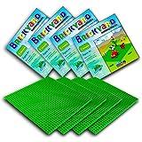 Brickyard Building Blocks Grundplatten für Bausteine (4er-Paket Grün)