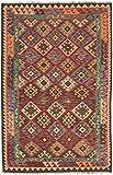 Carpetfine: Kelim Afghan Teppich 162x251 Multicolor - Geometrisch