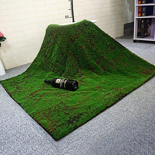 WENZHE Efeu Künstlich Hängende Rebe Plants Wanddekoration Moos Innen Im Freien Simulation Grün Teppich Rasen Hintergrundwand, 1 X 1 M (größe : 2 pieces) (Teppich Grüner Reben)