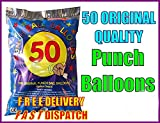 WhizzTec - 50 Punch Balloons Ball - Good Quality, Party Kids Loot Fair Birthday Goody Bag (50)