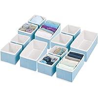 mDesign boîte de Rangement pour Armoire ou Commode (Set de 12) – bacs de Rangement de 2 Tailles en Fibre synthétique…