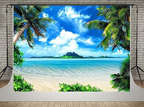 Sommer Thema 3x2m Blauer Himmel Meer Fotografie Hintergründe Strand Foto Hintergrund Hochzeit