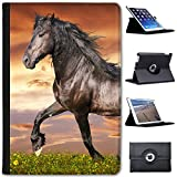 61VOyFOFR6L. SL160  BEST BUY #1Black Friesian Horse Trotting Faux Leather Case Cover / Folio for the Apple iPad Mini 4 (Will ONLY fit the iPad Mini 4)