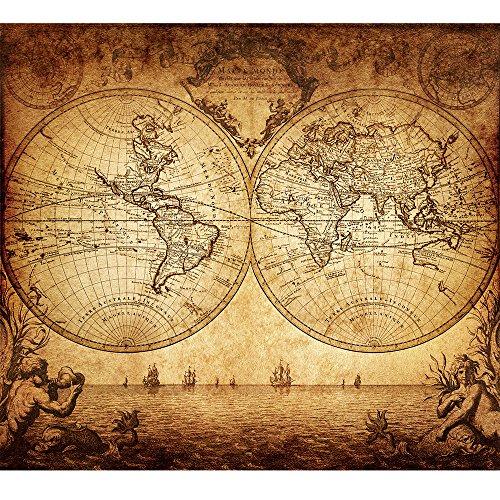 Antique world map amazon antique poster print ancient nautical world map 1733 vintage home wall canvas art decor gumiabroncs Choice Image