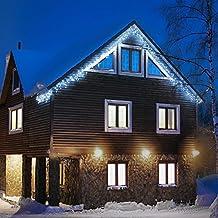 Blumfeldt Dreamhouse luci illuminazione natalizia (catena luminosa da 8 metri, 160 LED, cavo da 6 metri, effetto flash motion, IP44, per interni ed esterni) - bianco freddo