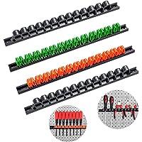 3-H Support murale pour tournevis, Support pour outils (2 Noir 1 Orange 1 Vert)