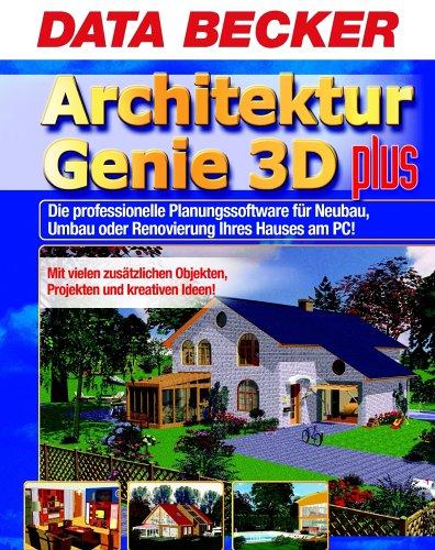Architektur Genie 3D plus, 2 CD-ROMs Die professionelle Planungssoftware für Neubau, Umbau oder Renovierung Ihres Hauses am PC! Mit vielen zusätzlichen Objekten, Projekten und kreativen Ideen! Für Windows 98/98SE/ME/NT 4(SP6)/2000/XP (Die Renovierung Von Häusern)