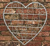 Vintage Style White Wire Heart Memo Card Photo Holder - Large by TTHG