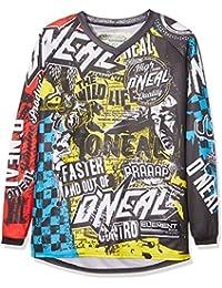 Oneal Element Jersey Equipacion para Montar en Bicicleta y Motocross, Negro, S