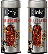 On1y Chilli Flakes Tin 50 gm (Pack of 2)