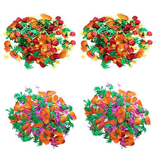 te Hawaiian Tropical Flamingo Ananas Cocnut Baum Pfeffer Konfetti Glitter Papier für Sommer Luau Party Lieferanten ()