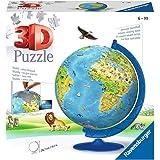 Ravensburger Puzzle 3D Globe terrestre-180 pièces-pour Enfants à partir de 6 Ans, 12338, Multicolore