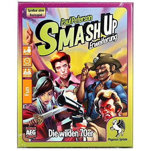Pegasus Spiele 17277G Nein Smash Up: Die Wilden 70er Set, Spiel