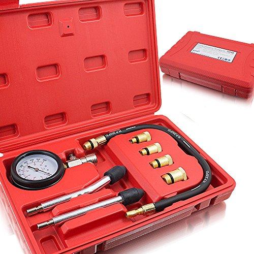 BITUXX® Tester di compressione - Dispositivo test cilindro motore a benzina - Manometro compatibile per tutti i tipi di automobili, 0–20bar