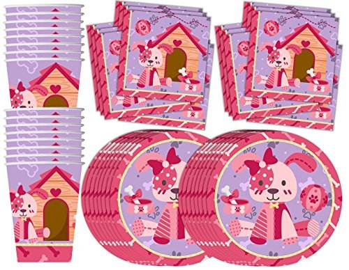 Birthday Party Supplies Set Plates Napkins Cups Tableware Kit for 16 ()