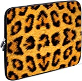 Sidorenko Tablet PC Tasche für 10-10.1 Zoll | Universal Tablet Schutzhülle | Hülle Sleeve Case Etui aus Neopren, Gelb/Schwarz