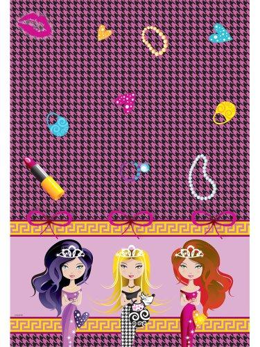 Folat Nappe « Glam Girls » pour anniversaires de petites filles Rose 130 x 180 cm