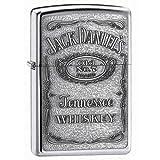 Jack Daniels Pewter Label Emblem Zippo Lighter 250JD427 Brand New