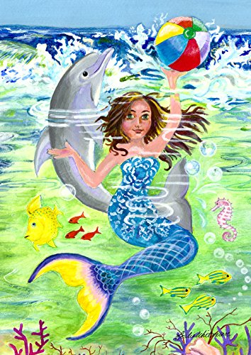 Toland Home Garden 1112104 Mermaid Coast Garten Flagge (12,5 x 18)