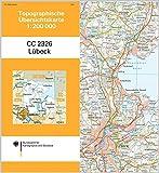 Lübeck: Topographische Karte 1 : 200 000 CC2326 (Topographische Übersichtskarten 1:200000 / Normalausgabe) - BKG-Bundesamt für Kartographie und Geodäsie