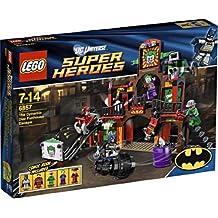 LEGO 6857 Super Heroes DC Universe - Huida de la guarida de Joker (figuras de Batman, Robin, Joker, Enigma y Harley Quinn)