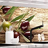 StickerProfis Küchenrückwand selbstklebend - OLIVEN - 1.5mm, Versteift, alle Untergründe, Hart PVC, Premium 60 x 220cm
