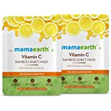 Mamaearth Vitamin C Bamboo Sheet Mask - Pack of 2 (25 g * 2)