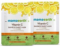 Mamaearth Vitamin C Bamboo Sheet Mask - Pack of 2 (25 g * 2)