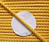5 m Baumwollkordel 5 mm gelb