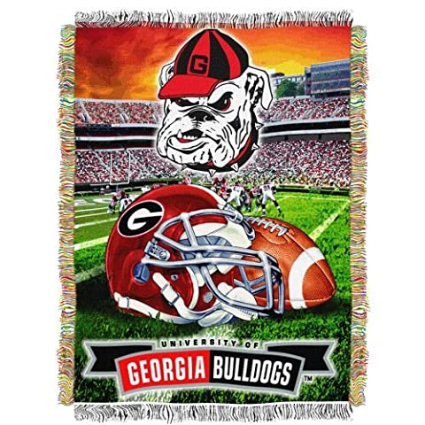 NCAA Georgia Bulldogs 48-Inch-by-60-Inch Acrylic Tapestry Throw by Northwest