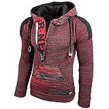 Rusty Neal Strick-Pullover Kapuzenpullover Grobstrick Strickjacke Jacke 13290-1, Größe:M, Farbe:Bordo