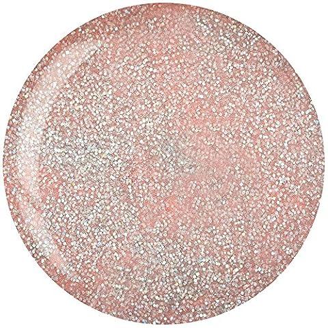Cuccio Pro Dip System Powder Nail Polish - Light Pink With Rainbow Glitter 45g