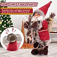 Atlojoys Christmas Stuffed Plush Toys Santa Claus Souvenir Dolls Figurine Xmas Party Eve Decor for kids