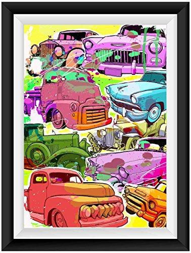 Oldtimer Poster Plakat für das Wohnzimmer Kunstdruck Bild - ungerahmt - INDIVIDUELLE GRÖßE tolle Geschenkidee mit Flair - Fine Art Print Leinwanddruck ab DIN A4-80x120 cm XXL
