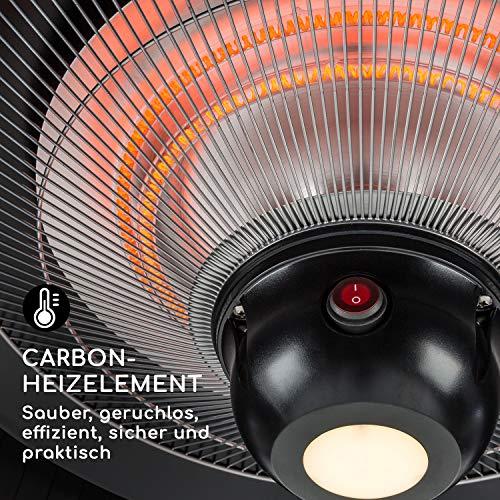 blumfeldt Venice Heat Terrassenheizstrahler • Infrarot-Heizstrahler • 800/1000/1800 W • Carbon-Heizelement • ComfortHeat • Easy Control • Aufhängemechanismus • Außengebrauch • Fernbedienung • Schwarz - 4
