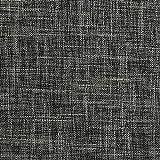 Lewondr Taie d'oreiller en Lin Fin (2 Pièces), 12 x 20 Pouces / 30 x 50 cm, Rectangulaire et Souple, Couleur Unie, Linge de Lit, Coussin et Décoration de Canapé - Gris Foncé