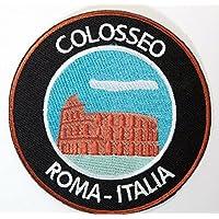 Coliseo de Roma de 9 cm Colosseo Roma Italia hierro bordado en placa templos coactivador del recuerdo de los viajes twistfix mochila Camiseta Chaqueta de equipaje