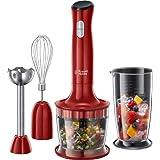 Russell Hobbs Desire, 3-i-1 stavmixer, 500W, 2 hastigheter, rostfritt stål, BPA-fri behållare, ballongvisp, minihackare, disk