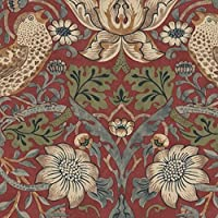 William Morris Strawberry Theif Wallpaper Red 212563 by william morris by Sanderson and Sons