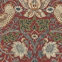 William Morris & Co–Neceser papel pintado rojo 212563