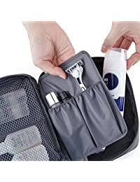 RK Enterprise Portable Waterproof Multi Pouch Travel Toiletry Cosmetic Bag With Handle (Color May Vary)