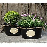 Set decorativo di 2 Planter Stand For Outdoor Indoor giardinaggio Decor Accessori