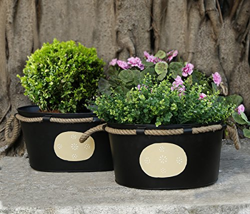 regalo-dia-madre-set-de-2-grandes-maceteros-negros-con-cuerda-de-yute-mango-flor-planta-sostenedor-d