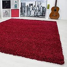 Teppiche Fr Wohnzimmer Esszimmer Oder Gstezimmer Hochflor Shaggy Einfarbig Mit 3 Cm Florhhe 1500