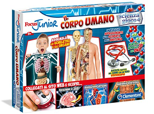 Clementoni 13911-The Game of the human body (Italian Version)
