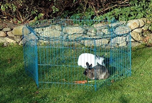 Kaninchengehege, Dobar, einstöckig, 6-eckiges Freilaufgehege - 8