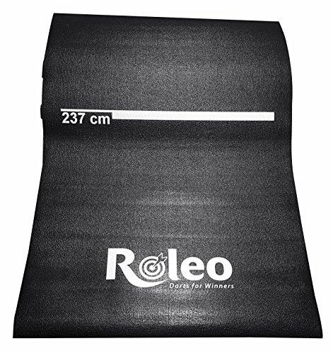 *Roleo Dartmatte Teppich rutschfest schwarz mit Abstandsmarkierung*